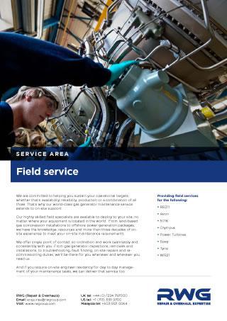 Field service datasheet