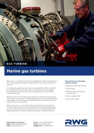 Marine Gas Turbines Datasheet
