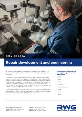 Repair development and engineering