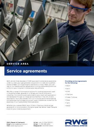 Service agreements datashett